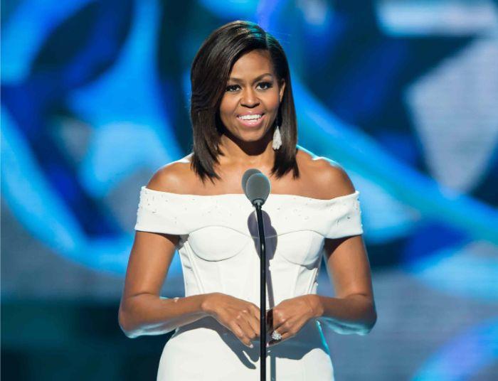 cortes de pelo corto, cortes de pelo corto a capas fotos, Michel Obama con un corte de pelo corto con degradado