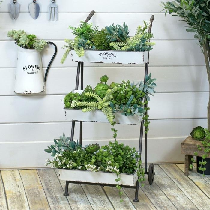 jardines bonitos para el interior de tu casa, decoración cocina, jardines verticales originales en macetas, fotos de floreros y macetas