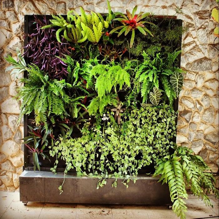 jardin vertical interior y exterior, creativas ideas de plantas verdes en jardines verticales para los espacios abiertos en tu hogar