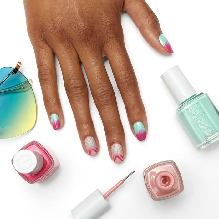 super originales diseños de uñas en colores pasteles, uñas de gel bonitas en imagines, modelos de uñas