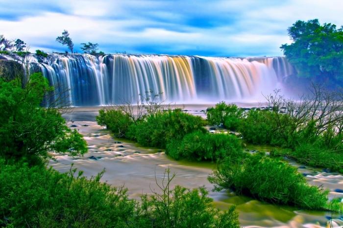 preciosos paisajes de naturaleza con cataratas y árboles,imagenes para fondo de pantalla, fondos de pantalla originales