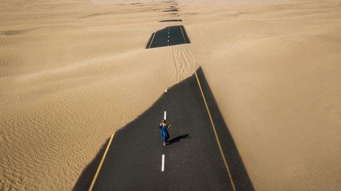 fotografías de paisajes y vistas panorámicas, imagenes de paisajes naturales y urbanos, carretera en el desierto, fotos para descargar