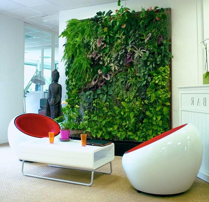 decoración de oficinas y salones con jardines verticales, super originales ideas con muros verdes, huerto vertical bonito
