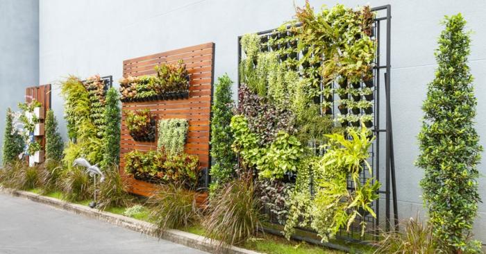 grandes jardineros verticales, ideas para decoracion jardin vettical, originales ideas para tu patio o jardín en imagenes