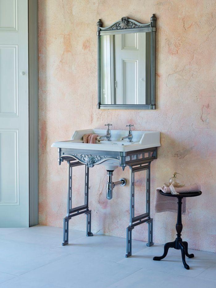 espacios decorados en estilo vintage, baños pequeños con ducha, fotos de baños con muebles de época, decoración de baños