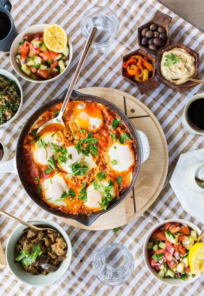 ideas de recetas de la cocina oriental para un desayuno tardío, que es un brunch ideas en fotos, comidas con huevos