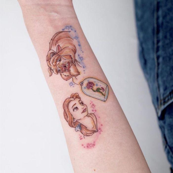 los más bonitos diseños de tatuajes disney, galería con más de 100 tatuajes para descargar, dibujos tattoos bonitos