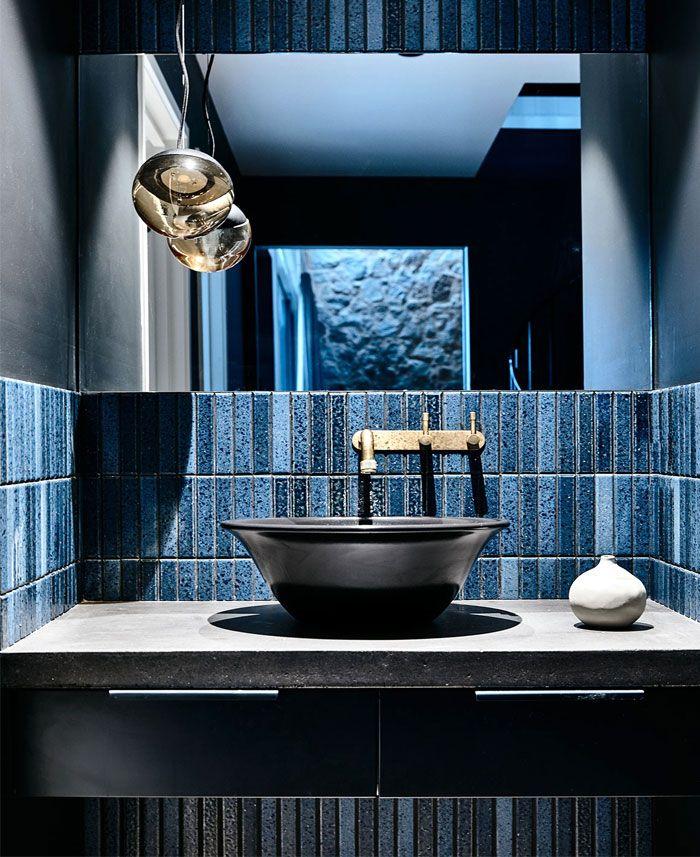 baño moderno decorado en color azul, cuartos de baño en fotos, decoración de baño fotos y últimas tendencias