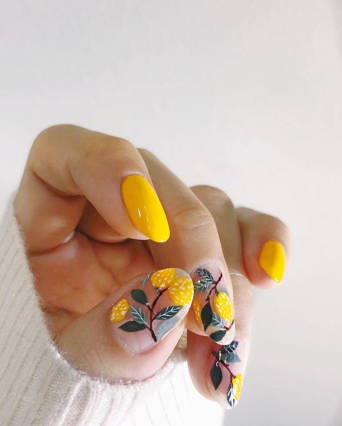 ideas de uñas largas con decorados para el verano, dibujos en uñas originales y bonitos, hermosas ideas para tus uñas