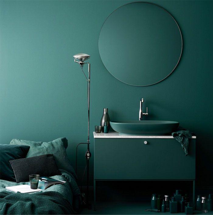 adorables ideas de decoración de interiores, baños modernos en los colores de la temporada, imagenes de baños originales