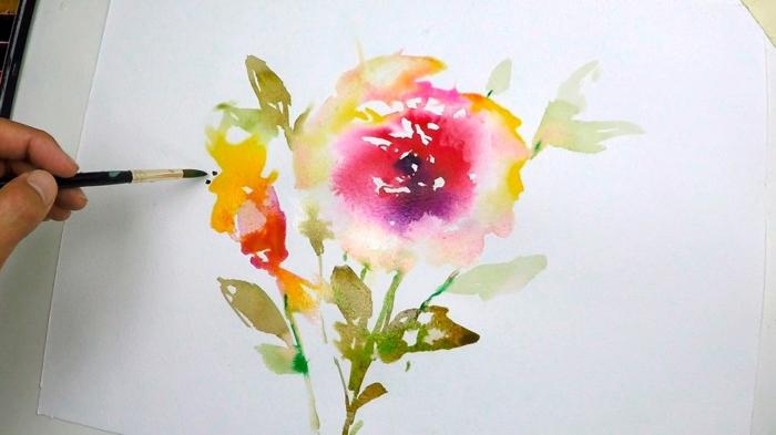 colores acuarelas pinturas, pinturas en acuarela originales, flores acuarelas originales, ideas para dibujar con acuarelas