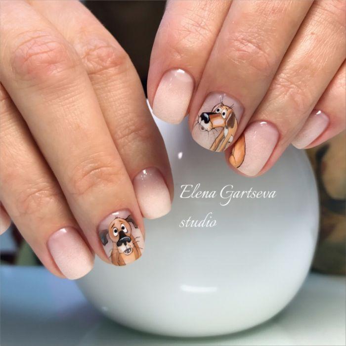 magníficas ideas de dibujos en las uñas, diseños de uñas faciles con pegatines y dibujos, manicura elegante y bonita