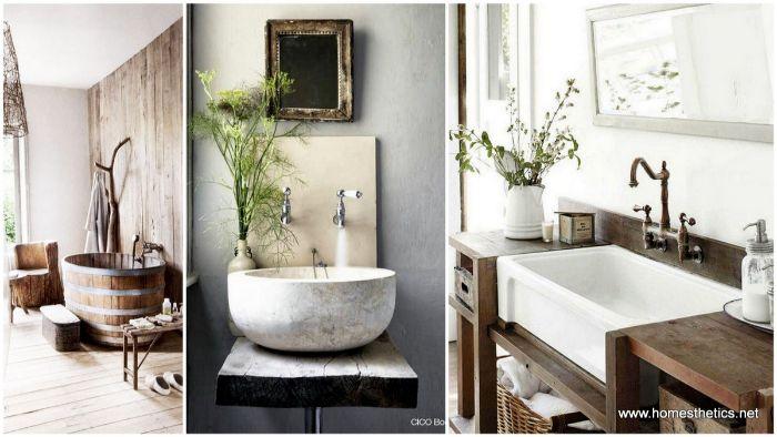 fotos de baño reformado, tres propuestas de baños en estilo rústico moderno, preciosas ideas sobre cómo decorar tu baño
