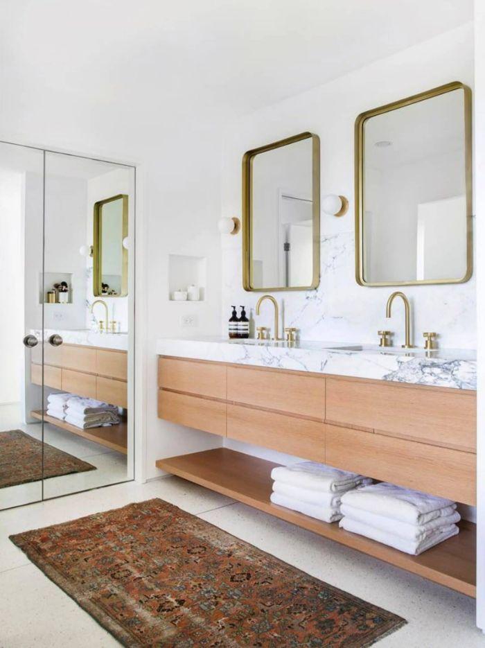 azulejos de baños modernos, decoración de baños en colores claros, ideas de diseños de baños modernos 2019