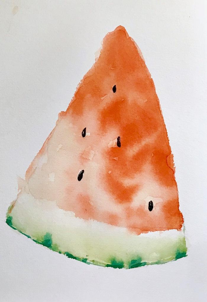 dibujos con acuarelas faciles de frutas y flores, super originales ideas sobre como pintar con acuarelas para principiantes