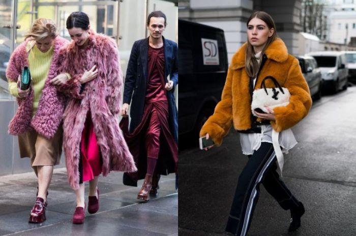 colores, estampados y prendas en tendencia, abrigos peludos en los colores modernos, tendencias otoño invierno 2019 mujer