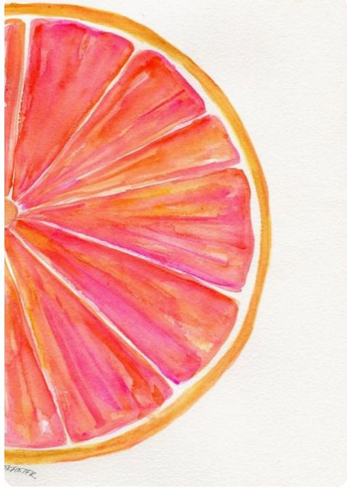 dibujos faciles y bonitos de frutas y flores, fotos de dibujos en acuarela en colores vibrantes que enamoran, descargar dibujos gratis