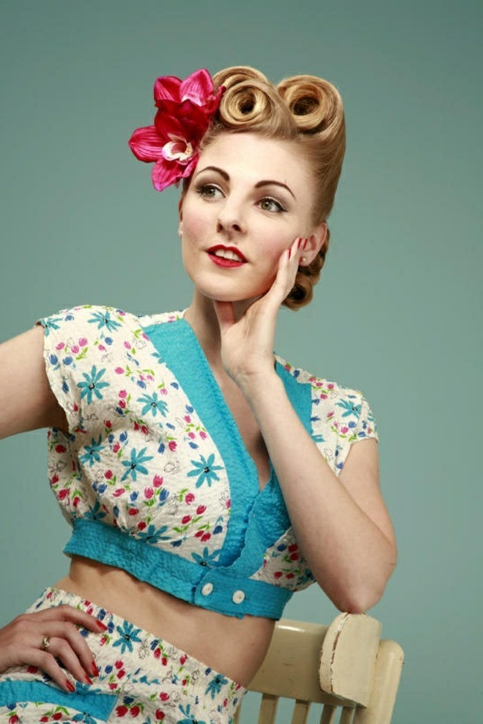 las mejores propuestas de peinados años 50, fotos de chicas pin up, vestidos y prendas en estilo retro, más de 150 fotos