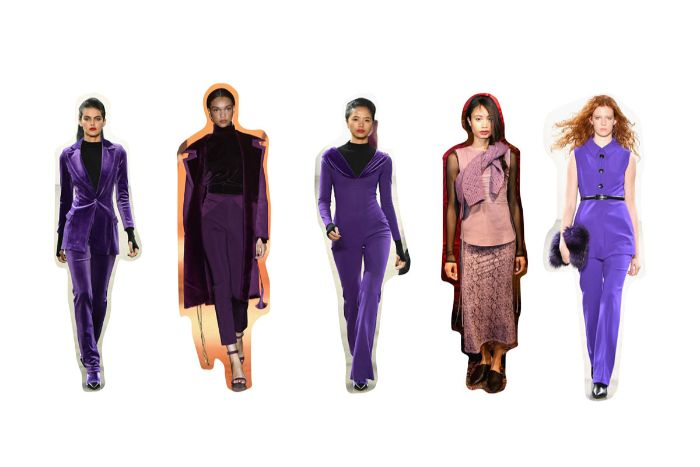 atuendos en los tonos del color púrpura, tendencias invierno 2019, las mejores ideas de atuendos en color violeta para el otoño