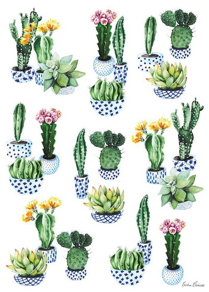 dibujos faciles y bonitos de cactus, ideas de dibujos fáciles para principiantes y avanzados, 75 ideas de dibujos simpaticos