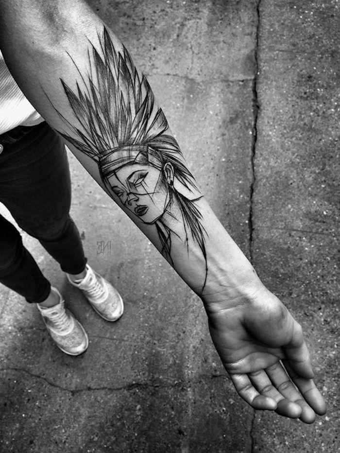 ideas de tatuajes simbolicos en el antebrazo, tatuajes para mujeres originales, galería de fotos con más de 150 fotos de tattoos
