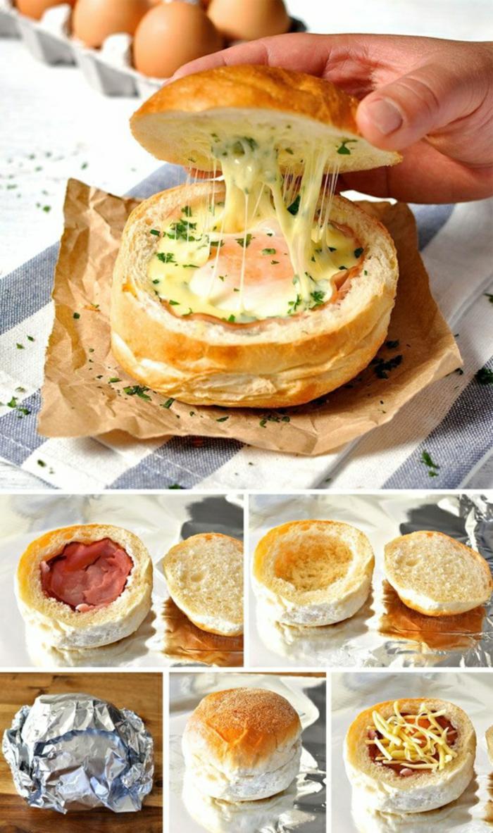 como hacer un barco de pan con huevos, lonchas de jamón y quesos, las mejores ideas de desayunos ricos y nutritivos