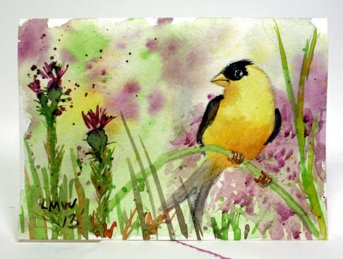 preciosos paisajes con flores y animales, ideas de como aprender a dibujar con acuarelas, más de 90 dibujos acuarelos