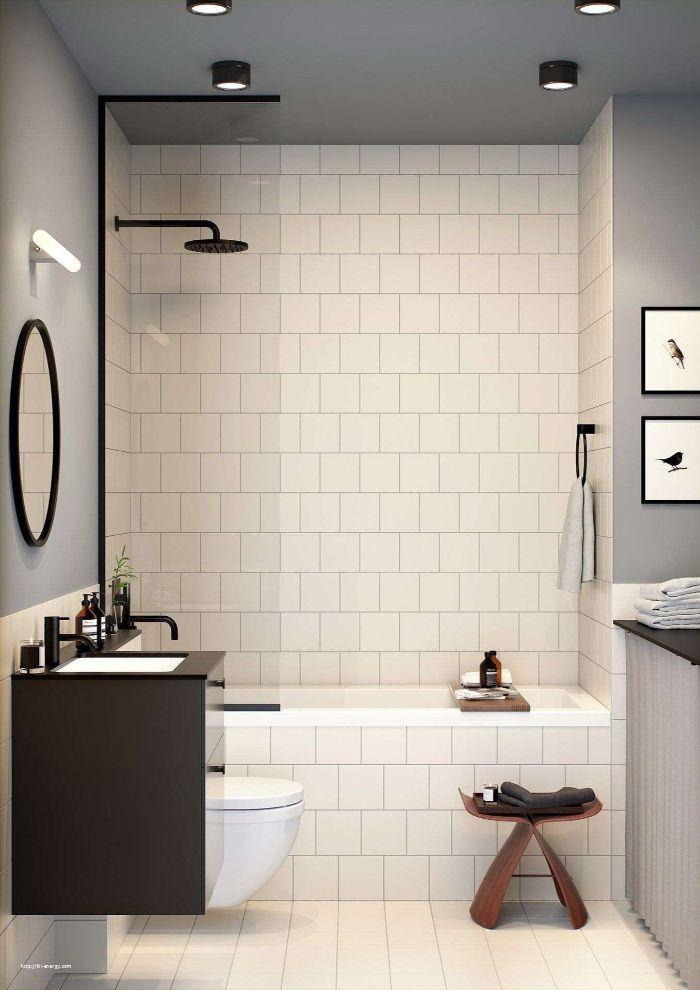 fotos de baños pequeños con ducha, baños en colores claros, fotos de baños en gris y blanco, imagenes de baños modernos