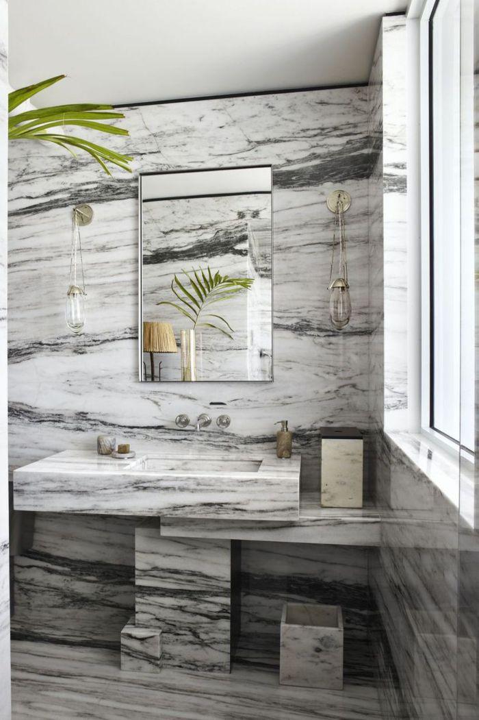 ideas de azulejos de baños modernos, pequeños baños con mármol, tendencias en decoración de baños para 2019