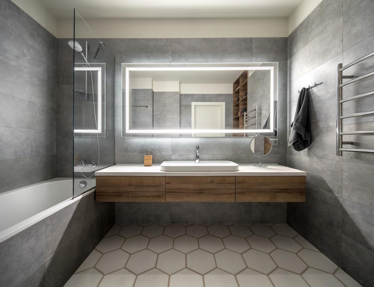 cuartos de baño rusticos originales, fotos de cuartos de baño modernos, paredes de hormigón, baños blancos originales