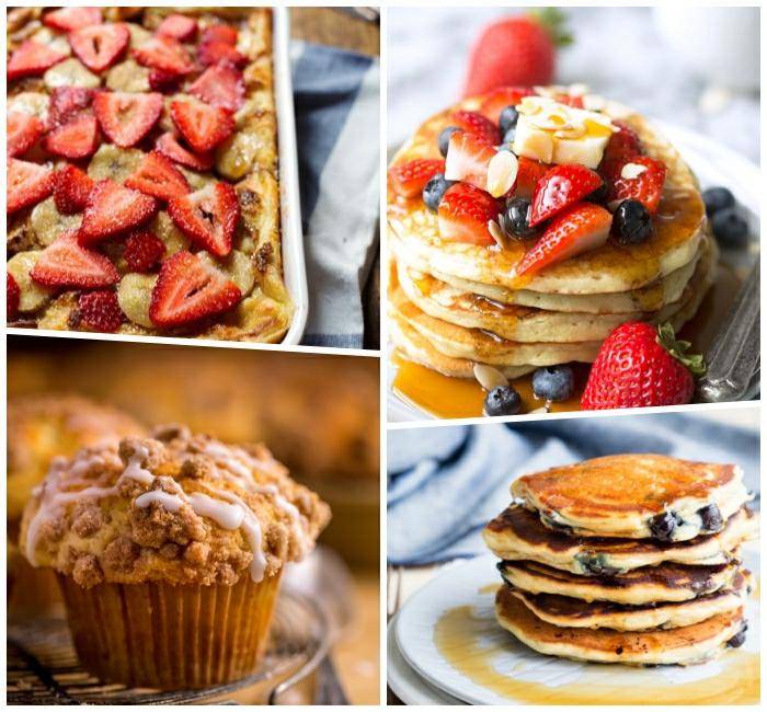 cuatro propuestas de desayunos salados para empezar en día, recetas originales faciles y rapidas en imagenes bonitas