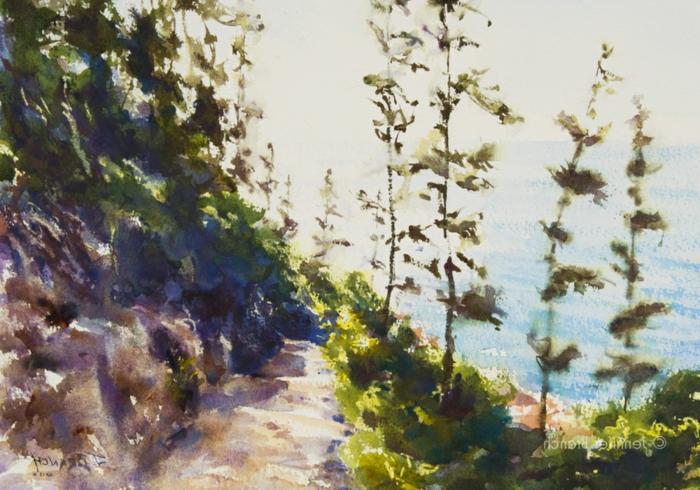 preciosos dibujos en colores bonitos, paisajes para dibujar hermosos con pintura acuarela, dibujos de paisajes originales