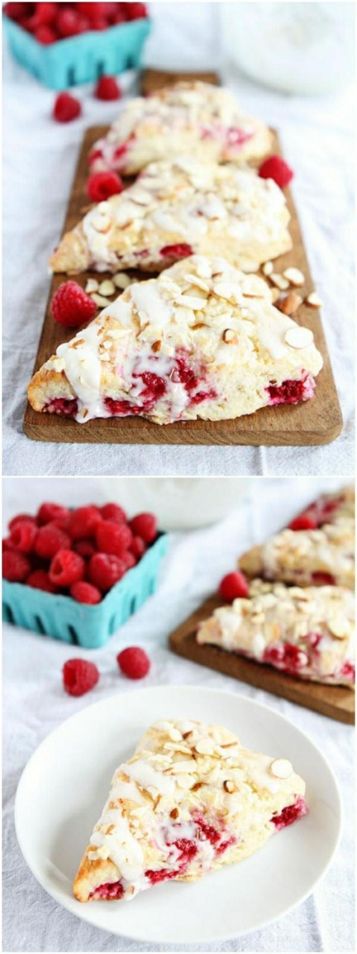 las mejores ideas de pasteles con frutas para el verano, recetas originales faciles y rapidas, fotos de tartas de frambuesas