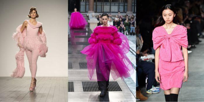 adorables ejemplos de vestidos en los tonos del rosado, moda invierno 2019 mujer, prendas bonitas para llevar esta temporada