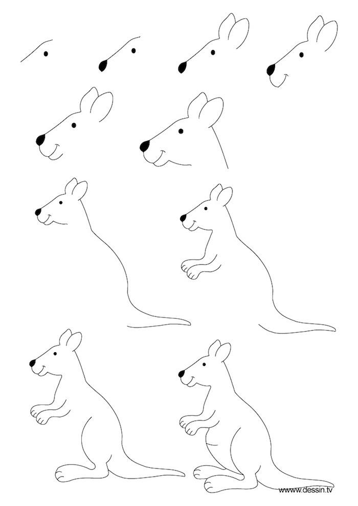dibujos a lápiz fáciles para niños y avanzados, originales ideas de dibujos paso a paso, aprender a dibujar animales