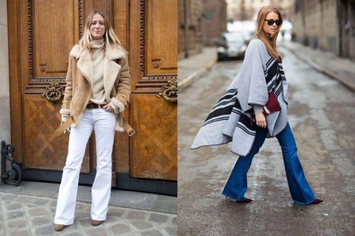 ideas sobre qué llevar este otoño, outfit moderno con pantalones campaña y abrigos, moda invierno 2019 mujer