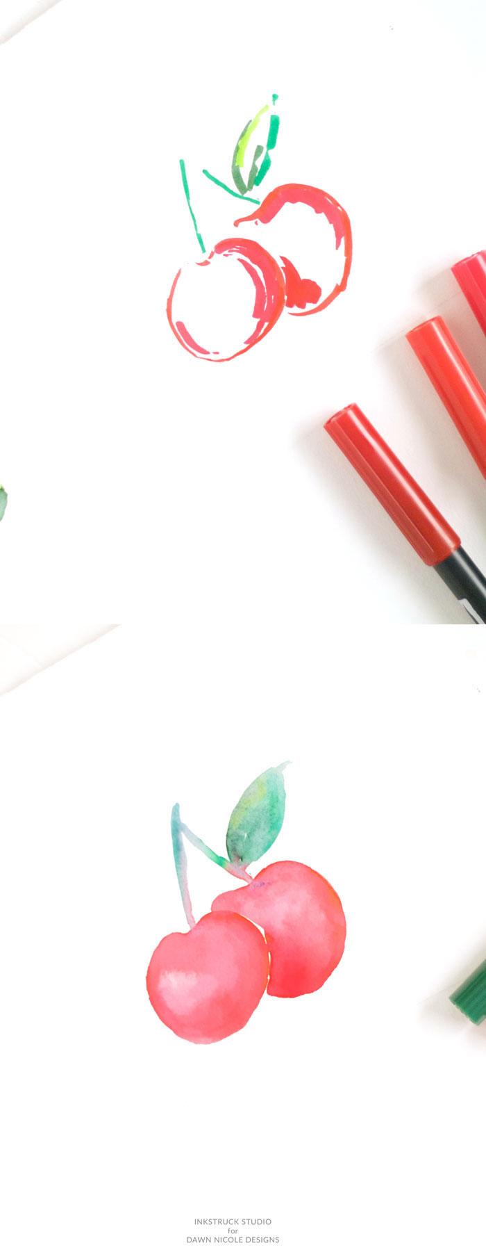 dibujar frutas paso a paso, ideas fáciles sobre como dibujar frutas y flores, dibujos coloridos que enamoran, dibujar paso a paso
