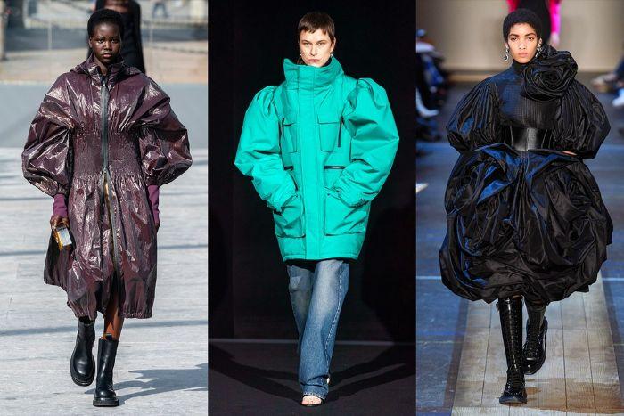 chaqueta maxy para este otoño, colores en tendencia, púrpura de tiro, turquesa y negro, ejemplos de las tendencias otoño 2019
