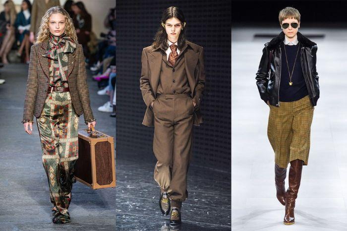 colores para llevar en otoño, tendencias otoño 2019, prendas en marrón combinadas con accesorios modernos, chaqueta estampado cuadros