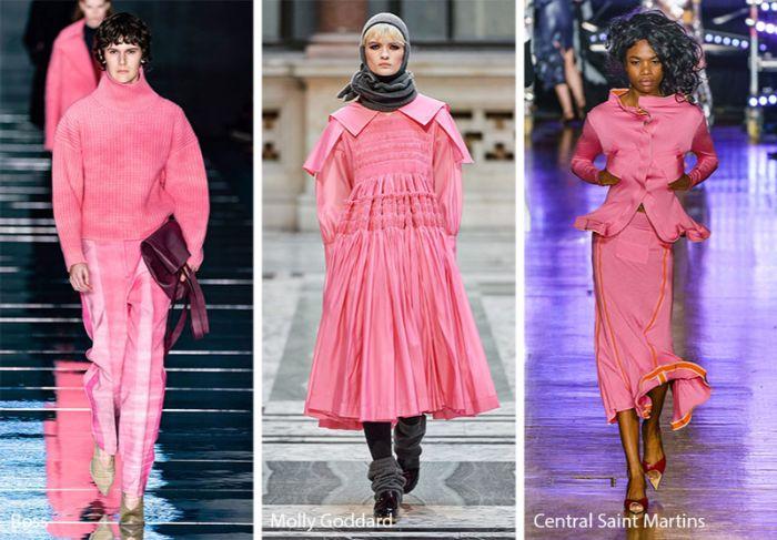 ideas sobre que se lleva este otoño, tres propuestas de atuendos en color rosa, vestido maxy en capas, jersey largo
