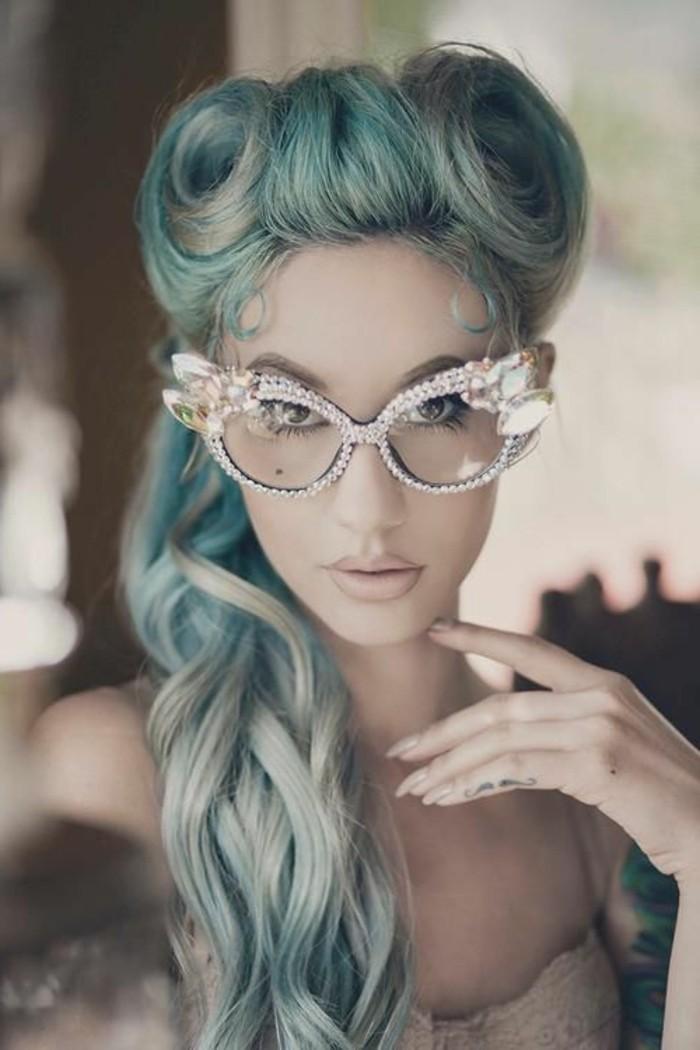 alucinantes ideas de peinados pelo largo en estilo vintage, colores de pelo, fotos de mujeres con mechas en el pelo
