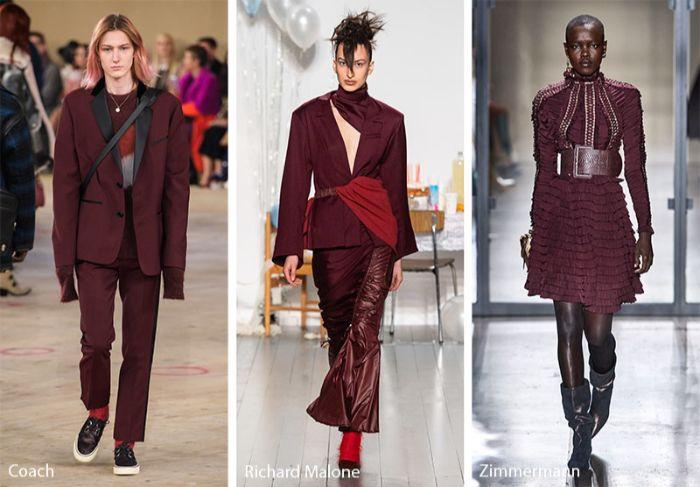 como llevar el color púrpura de tiro, las mejores ideas de moda otoño invierno, colores en tendencia 2019 2020