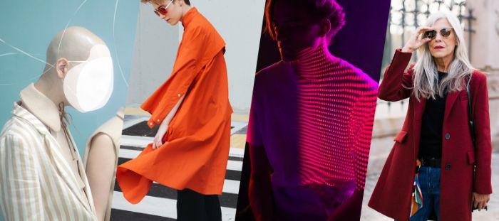 colores tejidos y prendas, 100 propuestas sobre que se lleva este otoño, colores vibrantes y neones, blanco,negro y rojo