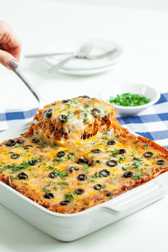 como hacer una cacerola rica con muchos quesos y carne, recetas de postres faciles y rapidos, ideas de recetas brunch