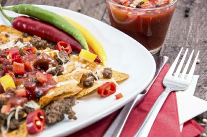 tacos con carne picada, pimientos rojos, amarillos y verdes, tacos con carne y chile, recetas de postres faciles y rapidos y comidas