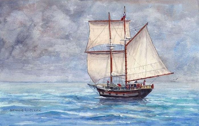 ideas de dibujos para dibujar faciles, como dibujar un barco en el mar, dibujos originales y hermosos para avanzados