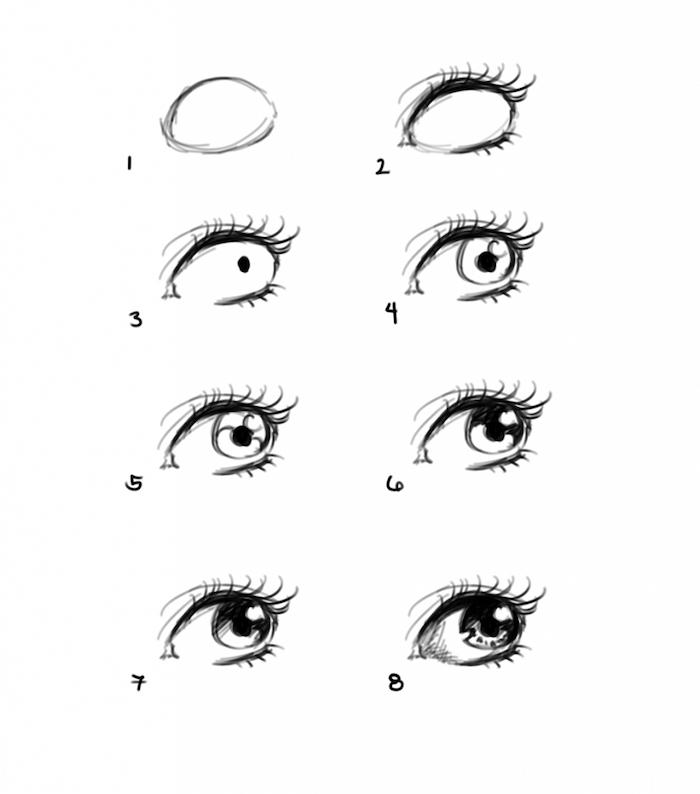 dibujos para calcar paso a paso, originales ideas de tutoriales de dibujos sencillos, dibujos de personas originales