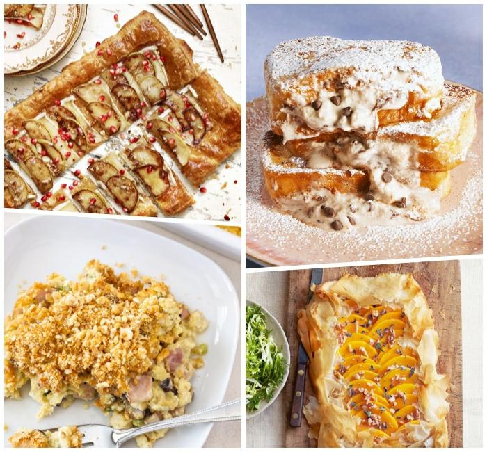 cuatro excelentes ideas de recetas de postres faciles y rapidos para empezar el día, fotos de comidas y dulces brunch