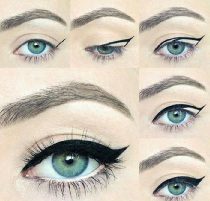 como hacer un maquillaje pin up clásico paso a paso, tutoriales de peinados y maquillaje en estilo vintage, fotos de maquillaje ojos