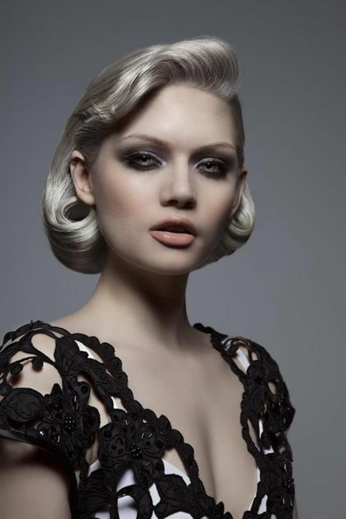 flequillo pin up, fotos de mujeres con peinados y prendas en estilo vintage, originales ideas de un look en estilo de los 50